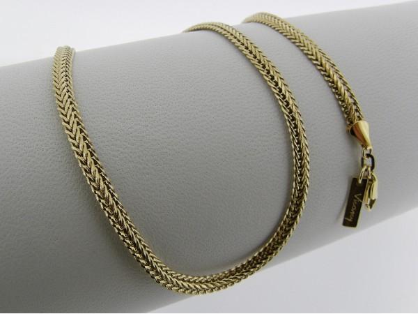 Gouden halsketting cocktail ketting met gevlochten slangen schakeltjes