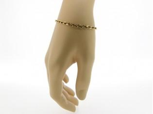 Gouden armbandje met gourmet gediamanteerd open motief schakeltjes
