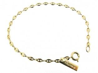 Gouden armbandje met ankerketting schakeltjes