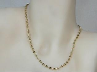 Gouden halsketting fantasie mini schakeltjes anker ketting