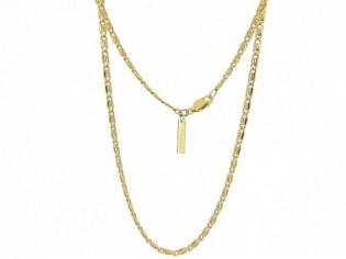 Gouden halsketting fantasie dunne koning schakel