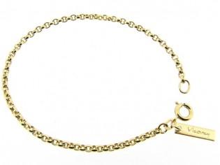 Gouden armbandje met kleine jasseron schakeltjes