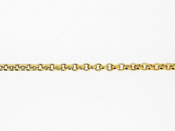 Gouden enkelbandje met fragiele jasseron schakeltjes