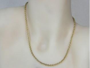 Gouden halsketting fragiele jasseron schakel collier