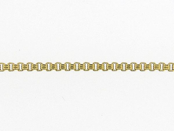 Gouden enkelbandje met fantasie venetiaanse schakel