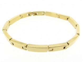 Gouden armband met grote blokschakels