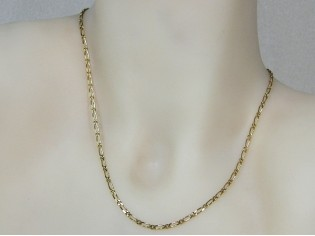 Gouden halsketting mini fantasie figaro collier met kleine schakeltjes