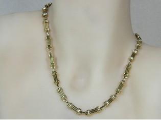 Gouden halsketting fantasie mode schakel