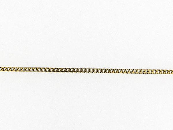 Gouden enkelbandje met gourmet schakel gediamanteerd geslepen