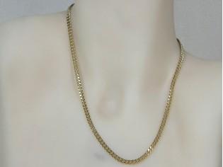Gouden halsketting gourmet schakel collier gediamanteerd geslepen