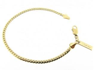 Gouden armbandje met hoogglanzende kleine slangen schakeltjes