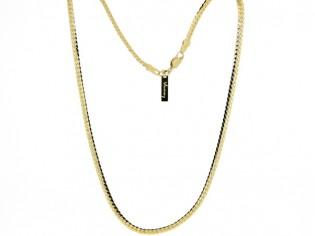 Gouden halsketting fragiel gourmet Luna cobra slangen collier