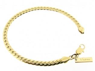 Gouden armbandje met hoogglanzende slangen schakeltjes