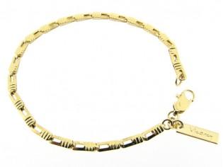 Gouden armbandje met kleine fantasie schakeltjes
