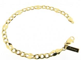 Gouden armbandje met fantasie gourmet schakeltjes