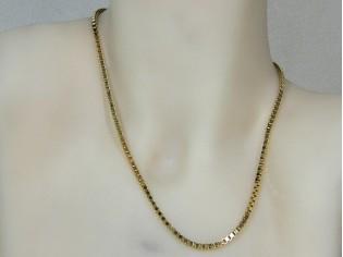 Gouden halsketting Venetiaanse schakel collier