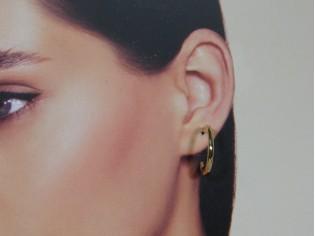 Gouden creool oorringen