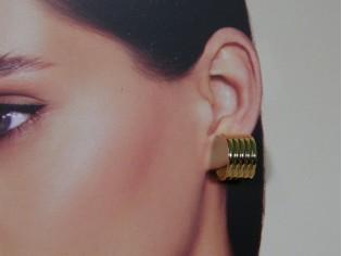 Gouden Franse open creool oorsteker