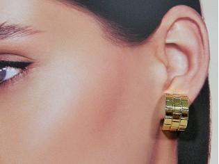 Gouden Franse open creool oorhanger