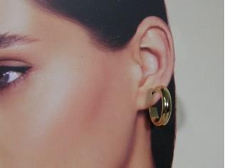 Gouden Franse creool oorhanger
