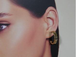 Gouden Franse creool oorring