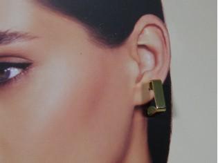 Gouden vierkante Franse creool oorring