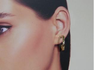 Gouden Franse open creool oorringen