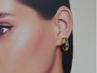 Gouden fijne Franse creool oorringetjes