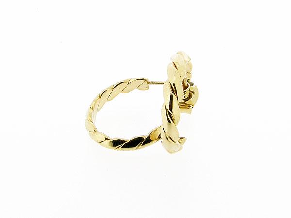 Gouden Franse creool oorstekertjes