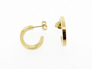 Gouden vierkante Franse oorring