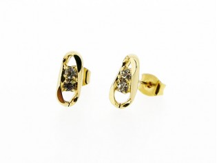 Gouden Franse kristallen oorsteker