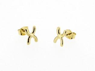 Gouden kleine Franse oorknop