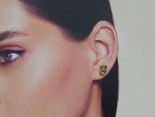 Gouden knoop oorknopje