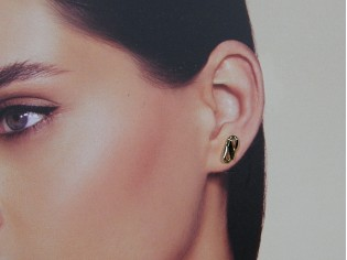 Gouden kleine figaro Franse oorknop