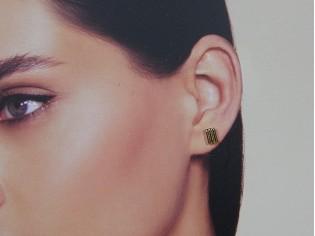 Gouden mini Franse oorknopje
