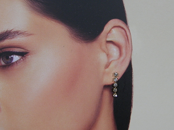 Gouden Strass kristallen chandelier oorhanger