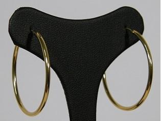 Gouden grote creolen oorring