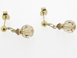 Gouden Topaas Swarovski kristallen oorhanger