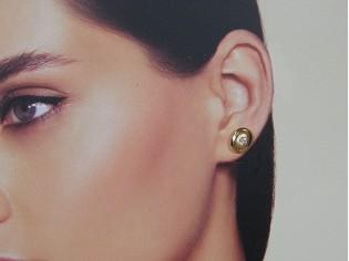 Rosé gouden ovale oorknopjes met zirconia steentjes
