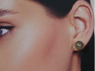 Bergkristal edelsteen oorknopjes met gouden stekertjes