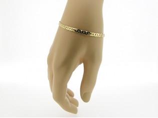 Gouden armbandje met gediamanteerde slangen schakeltjes