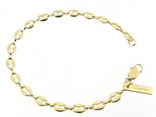 Gouden armbandje met fantasie ankerketting schakeltjes