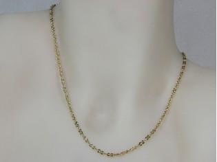 Gouden halsketting collier met kleine dubbele schakeltjes