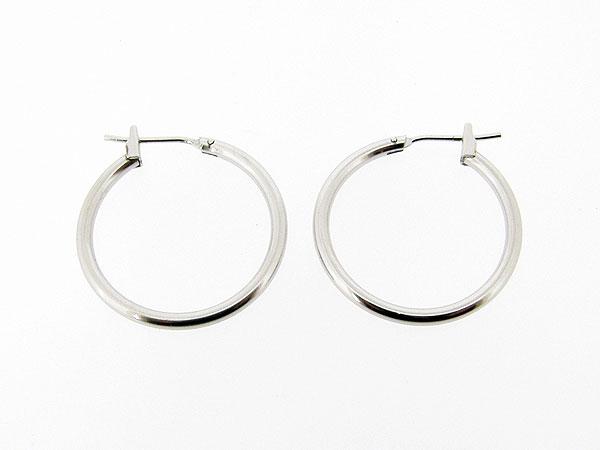 Zilveren creool oorhanger