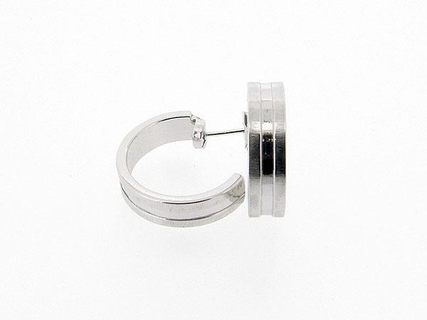 Zilveren creool oorsteker gediamanteerd