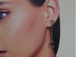 Lange oorhanger met heldere Swarovski kristallen