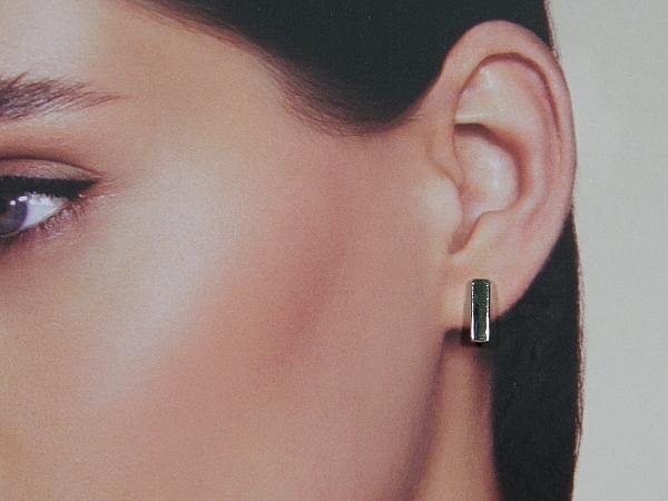 Zilveren staafjes oorknopjes