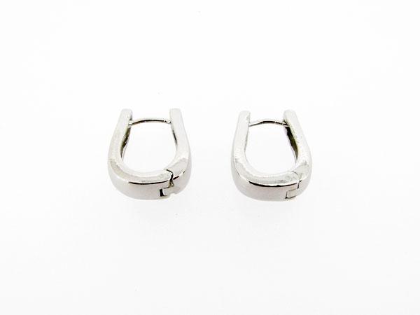 Zilveren brede klapcreool oorhanger