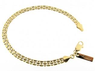 Gouden armbandje met kleine balletjes schakel