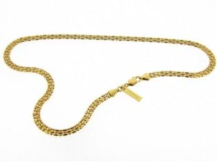 Gouden halsketting collier met kleine subtiele balletjes schakel